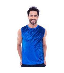 regata machão fitness masculina degradê azul