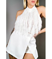 akira call you mine halter sweater top