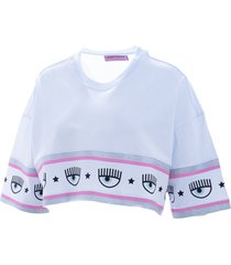 chiara ferragni chiara ferragni maxi logo mania t-shirt