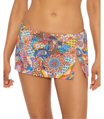 bleu by rod beattie printed skirted hipster bottom women's swimsuit
