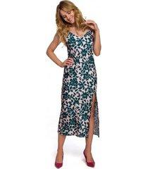 lange jurk makover k085 spaghettiband midi-jurk - model 4