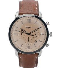 reloj café-cobre fossil