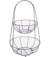 design imports chicken wire tiered stand