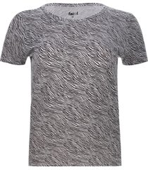 camiseta cebra color blanco, talla s