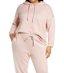 plus size women's eileen fisher crop hoodie, size 2x - pink