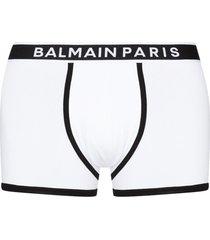 balmain logo-waistband set of two boxer shorts - white