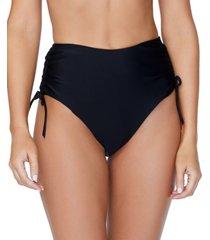 raisins solid high-waist isla tie bikini bottom women's swimsuit