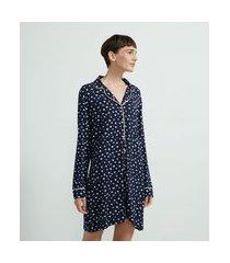 camisola americana em viscolycra estampa xadrez | lov | azul | gg