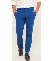 pantalón chino azul azul 40