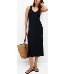 mango women's cut-out back dress