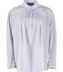 alberta ferretti striped viscose blend shirt
