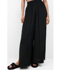 mango women's elastic waist pants