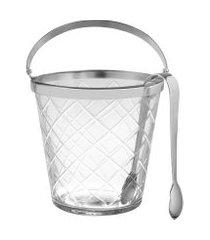 balde de gelo com pinça lumiere 1,2 litros - home style
