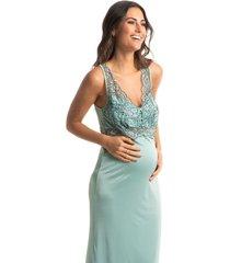 camisola maternidade longa com detalhe em renda lollipop
