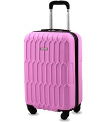 """honeycomb 22"""" carry-on expandable spinner suitcase"""
