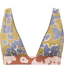 isabella floral-print triangle bikini top