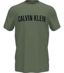 calvin klein t-shirt crew neck heren olive - l9p
