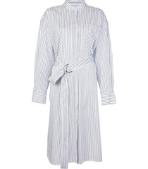 jason wu striped poplin shirt dress - blue