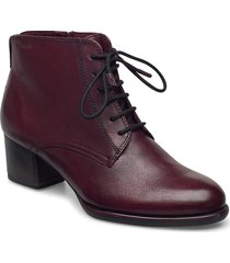 woms boots shoes boots ankle boots ankle boot - heel röd tamaris