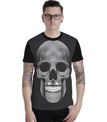 camiseta lucinoze camisetas manga curta gates preto
