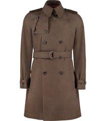 alexander mcqueen cotton trench coat