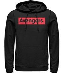 marvel men's avengers classic logo, pullover hoodie