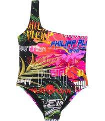 philipp plein jungle rock monokini - black