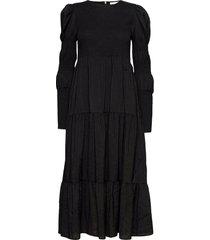 mazzigz ls dress ms21 maxi dress galajurk zwart gestuz