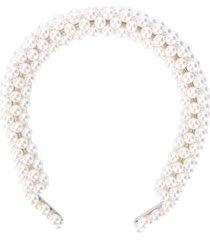 shrimps pearl-embellished headband - neutrals