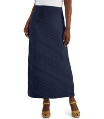 jm collection petite solid knit maxi skirt, created for macy's
