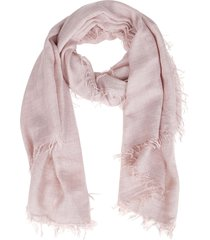 dust pink cashmere-silk blend scarf