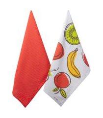 jogo de pano de prato fruity 2 peças - home style