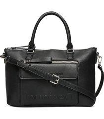 bols embossed half logo p bags top handle bags zwart desigual accessories