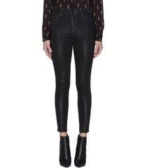 'margot' coated crop skinny jeans