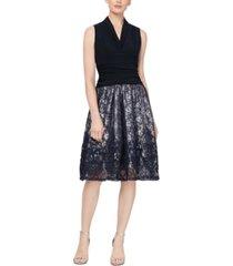 sl fashions lace fit & flare dress