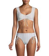 beua tilley frida striped bikini top