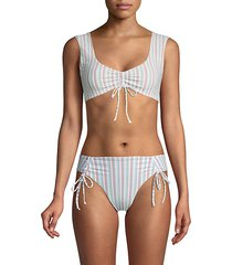 beua tilley frida striped bikini top