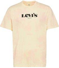 ss relaxed fit tee mv logo spr t-shirts short-sleeved orange levi´s men