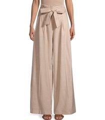 lafayette 148 new york women's tillary wide-leg pants - almond - size 10