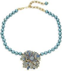 heidi daus women's goldtone & crystal flower necklace