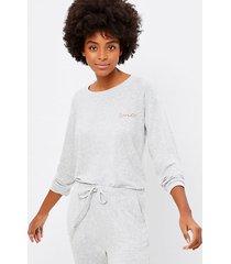 loft petite dotted pajama top