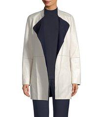 bonded leather reversible jacket