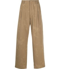 acne studios washed-effect twill trousers - neutrals
