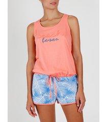 pyjama's / nachthemden admas pyjama shorts tank top strandkoorts koraal adma's
