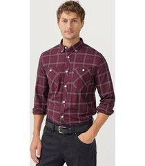 rutig skjorta med button down-krage