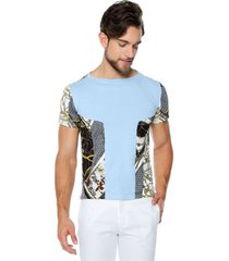 camiseta azul con detalles osop mansion men's fashion jackpot