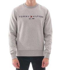 tommy hilfiger logo sweatshirt | cloud heather |  11598-p9v