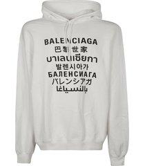 balenciaga logo print hoodie