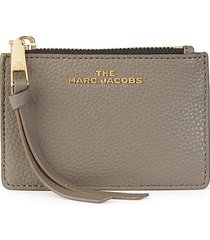 marc jacobs women's multi leather card case wallet - black