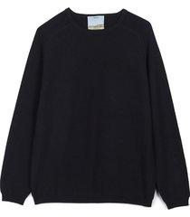 cashmere travel sweater s/m - black